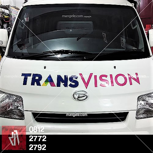 stiker branding mobil grandmax di bandung   Transvision