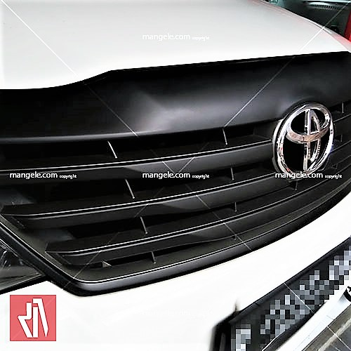 wrapping sticker mobil toyota bandung   grill part hitam doff