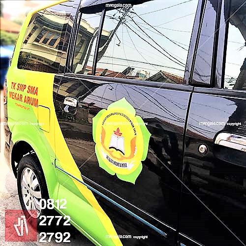 branding stiker mobil apv bandung   mangele sticker pro 081227722792   sekolah mekar arum