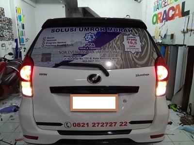 branding stiker mobil | avanza di bandung | mangele stiker 081227722792