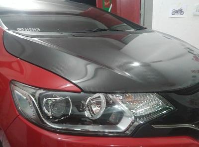 carbon stiker kap mesin | mobil di Bandung | mangele stiker 081227722792