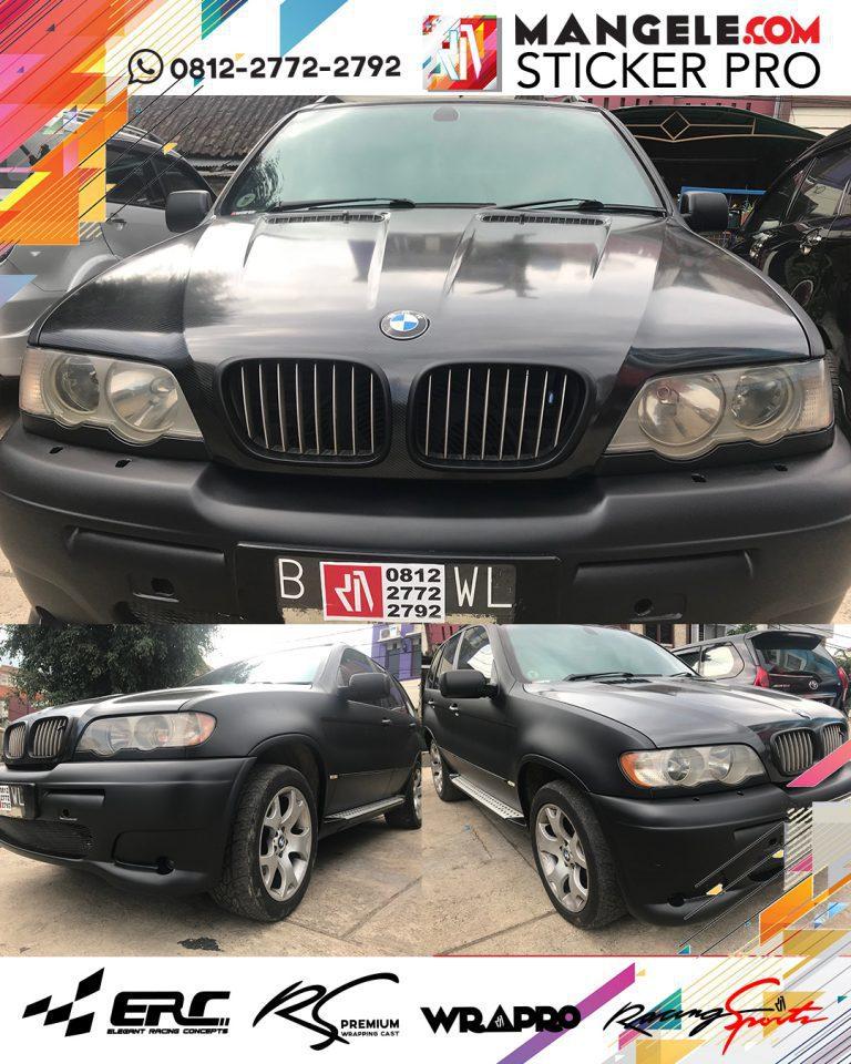 wrapping stiker mobil   BMW Kap Mesin Carbon   mangele stiker 081227722792