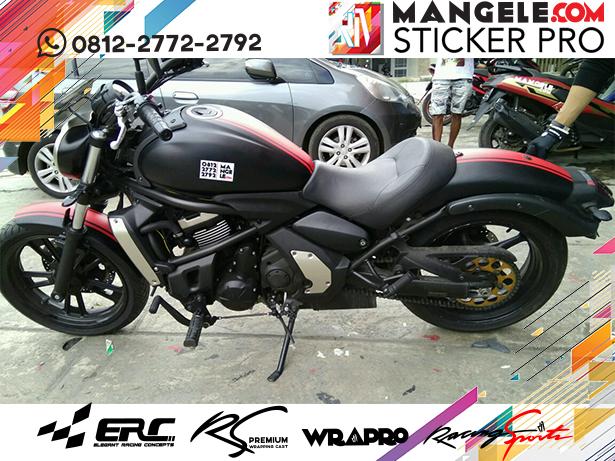 wrapping Cutting stiker motor   Kawasaki Stiker Hitam Doff Variasi Cutting Keren   mangele stiker 081227722792