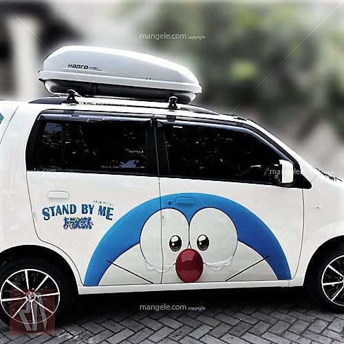 tempat pasang sticker mobil di bandung | mangele 081227722792 | stiker print karakter doraemon