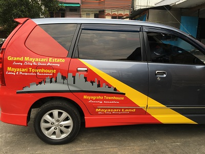 grand mayasari branding mobil bandung | mangele stiker | 081227722792