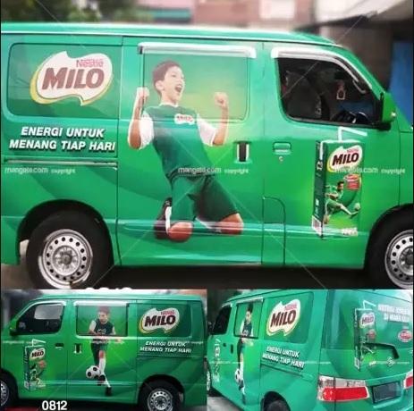 stiker mobil branding di bandung | mangele sticker | Granmax Milo