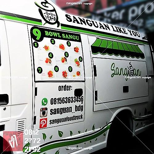 tempat terbaik stiker branding mobil di bandung | food truck sanguan | mangele 081227722792
