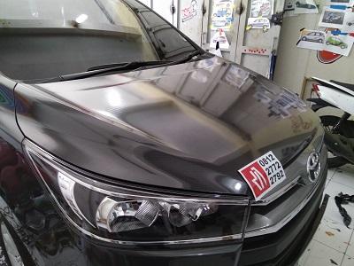 pasang stiker carbon mobil | kap mesin | Bandung mangele 081227722792