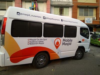 branding stiker mobil di bandung | mangele sticker | Mobile mesjid