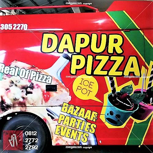 tempat pasang stiker mobil branding terbaik di bandung | dapur pizza by mangele | 081227722792