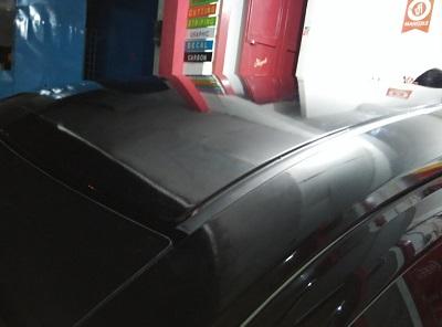 wrapping stiker atap | hitam doff di bandung | mangele stiker 081227722792