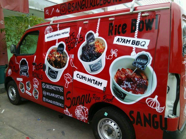 tempat stiker branding mobil | mangele stiker 081227722792 | sangu rice bowl