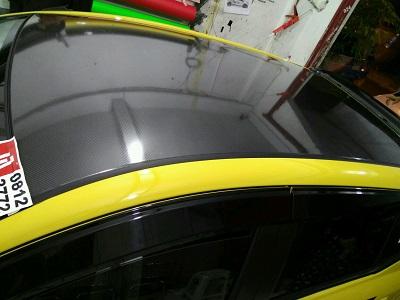 wrapping stiker mobil | carbon atap mobil di bandung | mangele stiker 081227722792