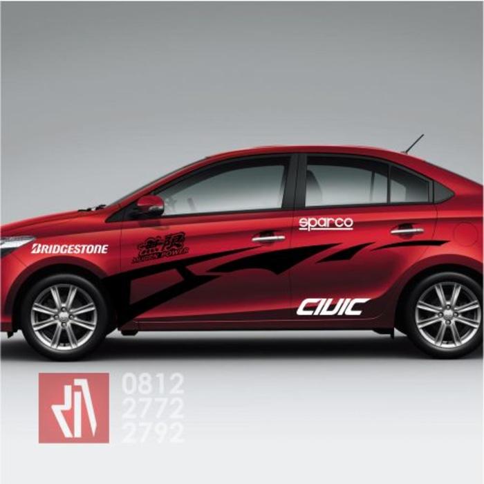 cutting stiker mobil | cutting civic racing bandung | mangele stiker 081227722792