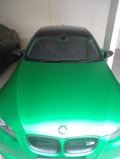 wrapping stiker mobil | BMW Green Metallic Chrome Matte RS Premium | mangele stiker 081227722792