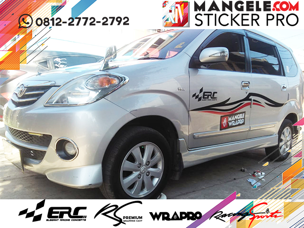 stiker cutting mobil | Avanza Cutting Stripping ERC Elegant Racing Concepts | mangele stiker 081227722792