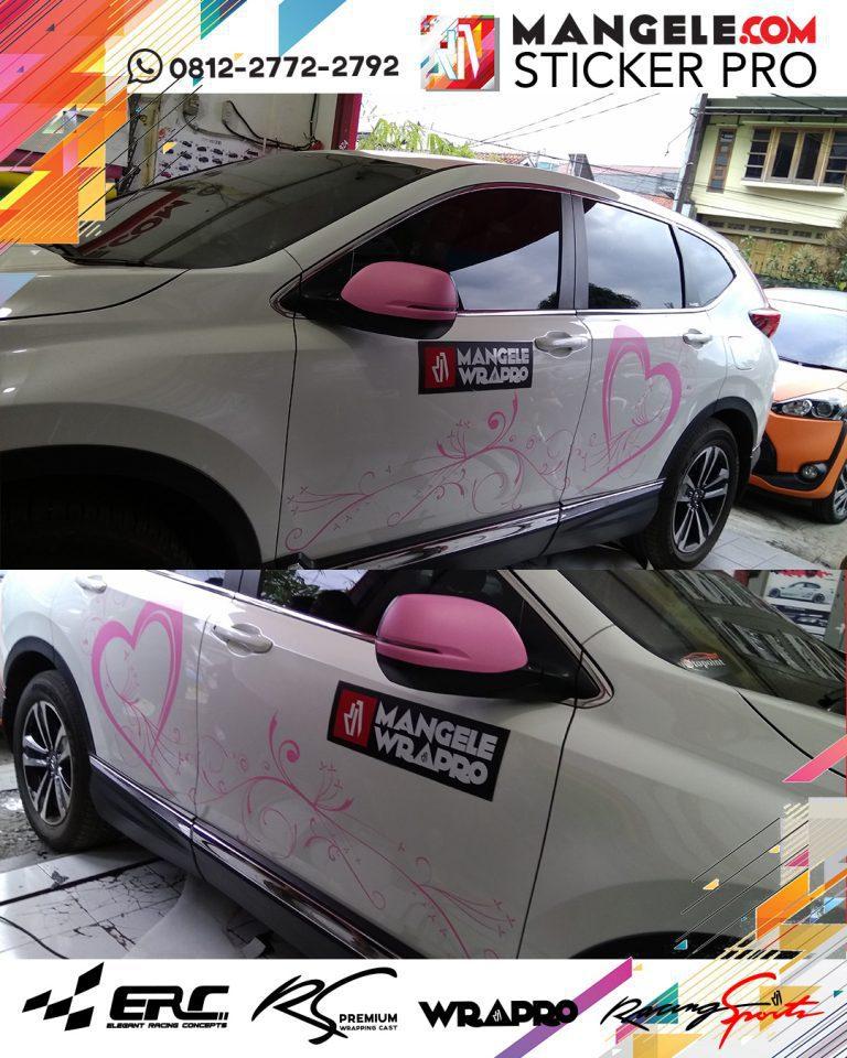 cutting stiker mobil   Cutting CRV custom Bunga di Bandung   mangele stiker 081227722792