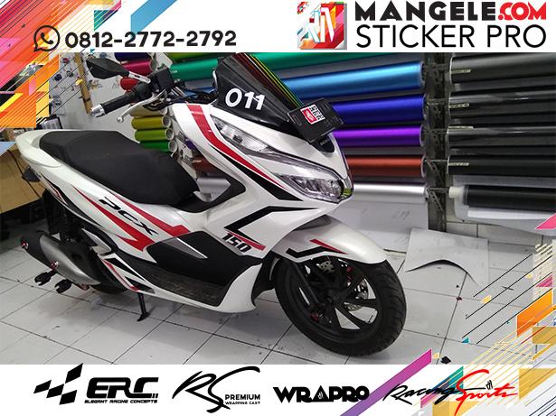 cutting stiker motor | stripping PCX keren Bandung | mangele stiker 081227722792