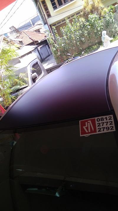 wrapping stiker mobil | Atap dan Kap mesin Hitam doff di Bandung | mangele stiker 081227722792