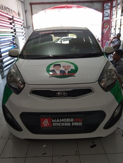 branding stiker mobil | Kia picanto branding caleg | mangele stiker 081227722792